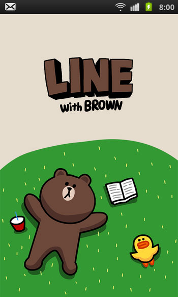 LINE for Android Brown3