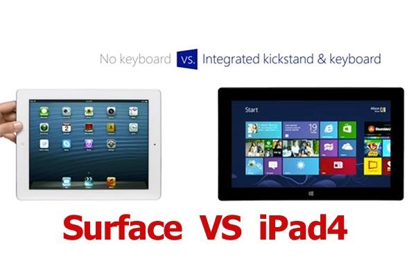 Surface กับ iPad4