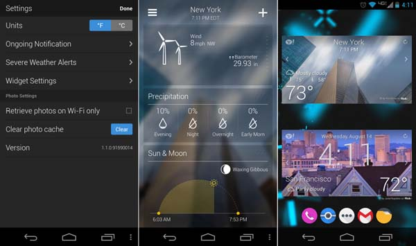 Yahoo Weather android