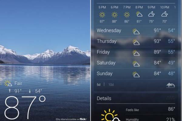Yahoo Weather android new