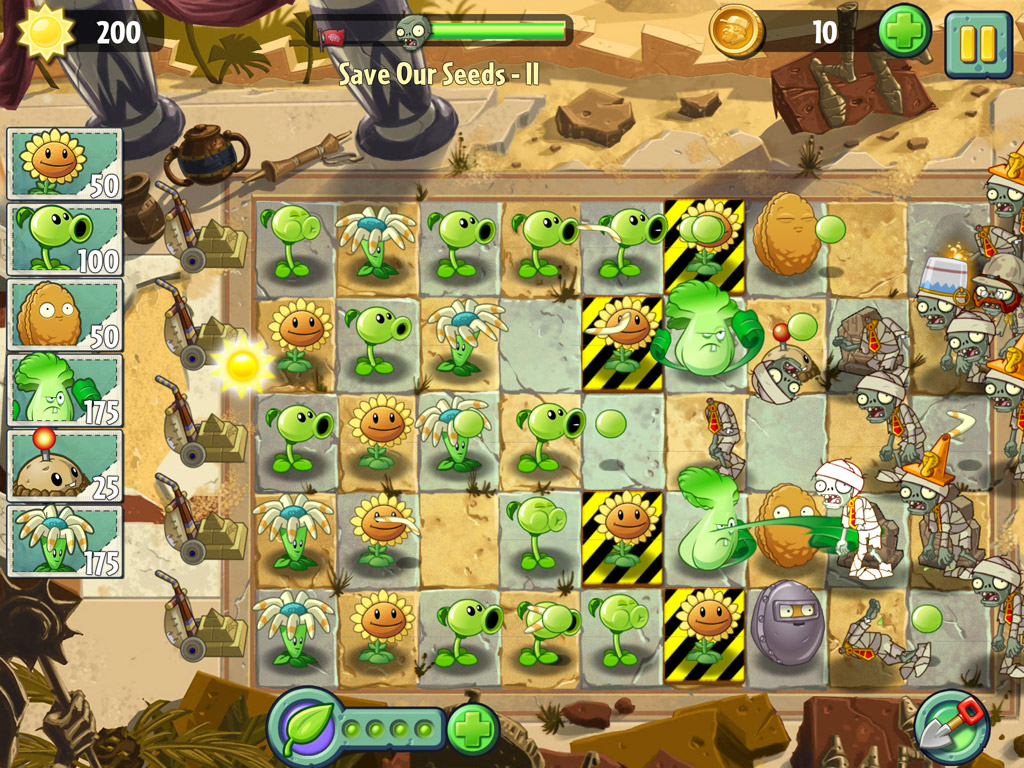 รีวิว plants vs zombies 2