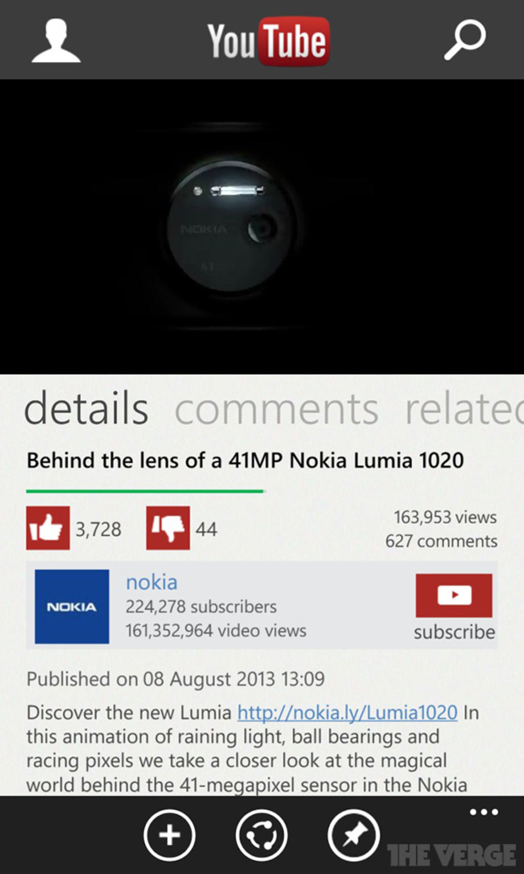YouTube กลับมาลง Windows Phone