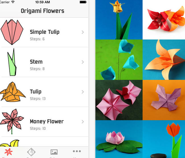 Origami-Flowers