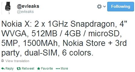 Nokia-X-specs-Android