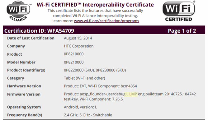 HTC-tablet-Wi-Fi-certification