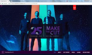 Adobe Make The Cut Webpage