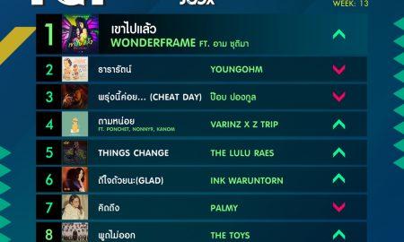 10 อันดับเพลงฮิต Thailand TOP100 by JOOX วันที่ 1 เมษายน 2562