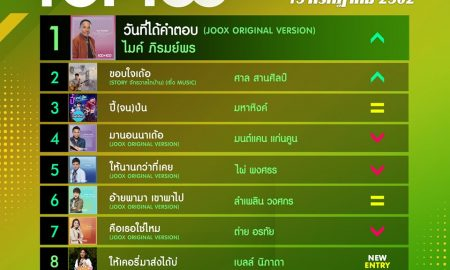10 อันดับเพลงฮิต[ลูกทุ่ง] Thailand TOP100 by JOOX วันที่ 15 กรกฎาคม 2562