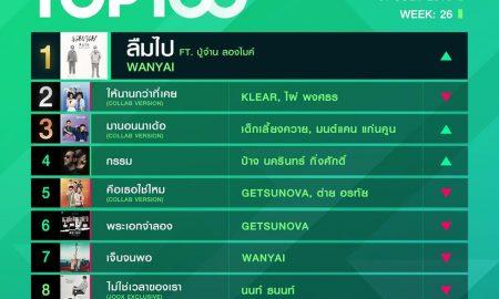 10 อันดับเพลงฮิต Thailand TOP100 by JOOX วันที่ 1 กรกฎาคม 2562