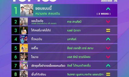 10 อันดับเพลงฮิต[ลูกทุ่ง] Thailand TOP100 by JOOX วันที่ 9 กันยายน 2562