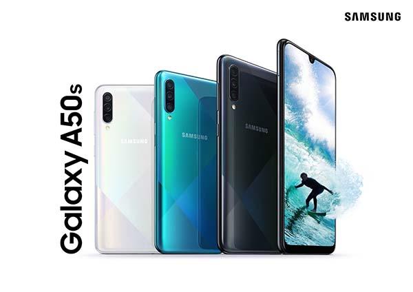 Galaxy A50s_ColorCombo_WhiteGreenBlack_