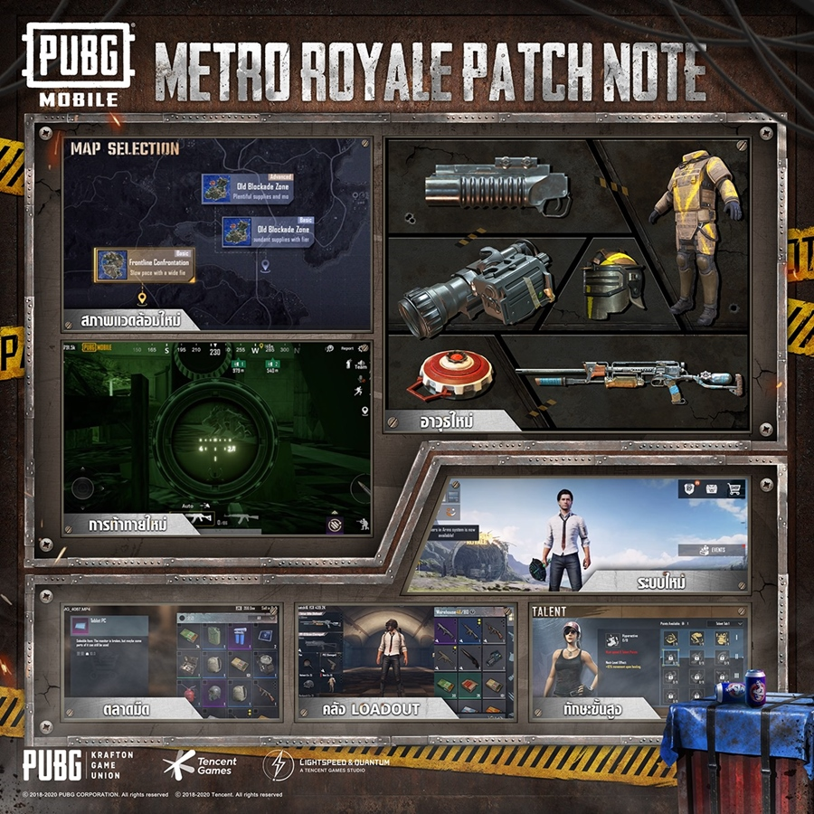 Metro Royale Patch Note