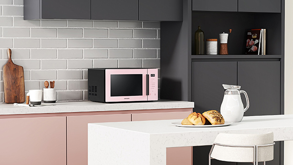 Microwave Oven Clean Pink_